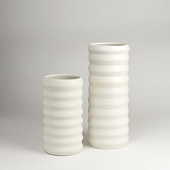 Tall Ridge Vase / Salt - Corbé
