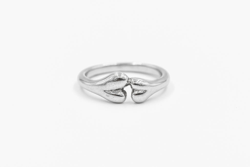 White Gold Boneyard ring