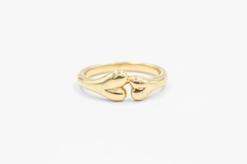 Yellow gold Boneyard Ring