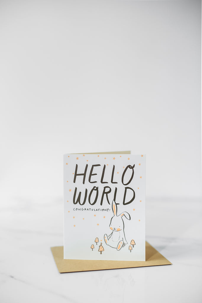 Hello World (Bunny) Card