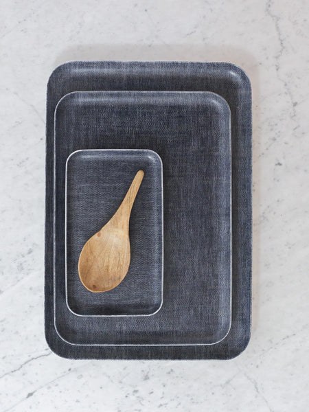 Dark Chambray Tray