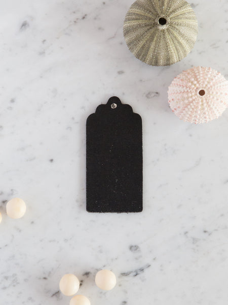 5 wooden chalkboard swing tags
