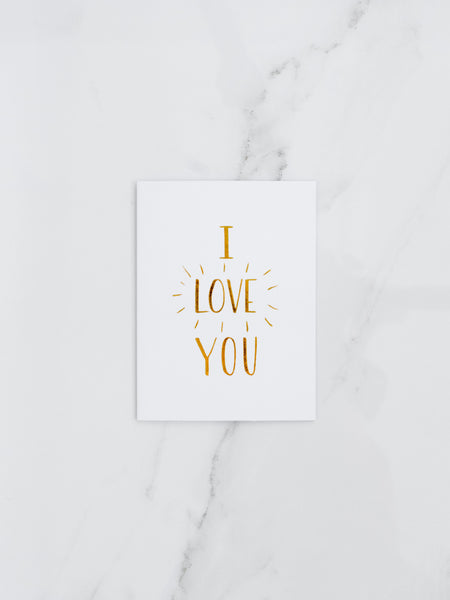 Penned Black 'I Love You' Card