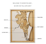 Bathymetric Map of Moreton Bay