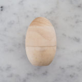 natural wood easter egg