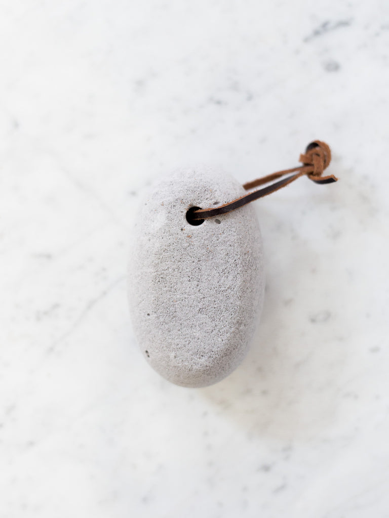 Pumice Stone with Leather Rope