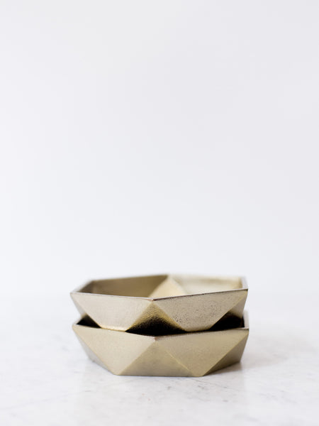 Brass Plated Geometry Bowl