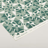 'Twist' Patterned Paper - Dark Green