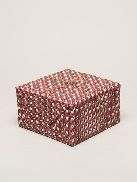 Squares Patterned Paper - Dark Red