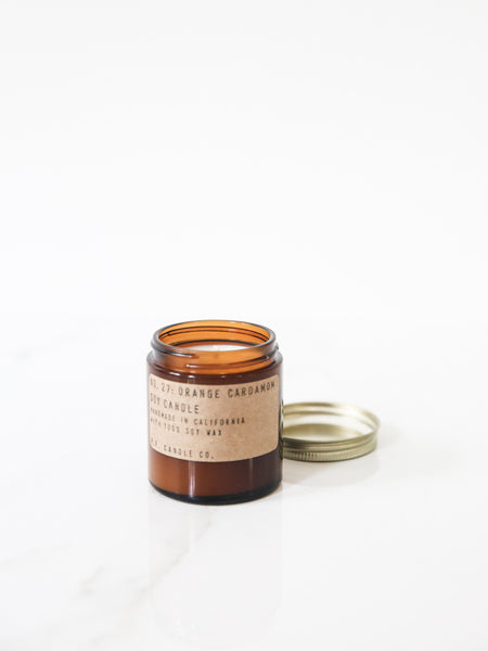 Small Orange Cardamom Soy Candle