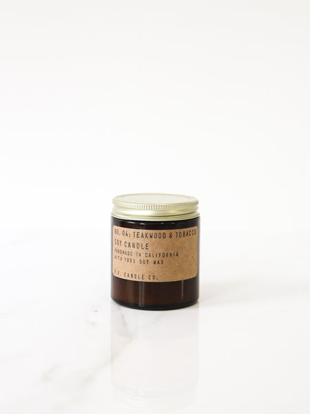 Small Teakwood & Tobacco Soy Candle