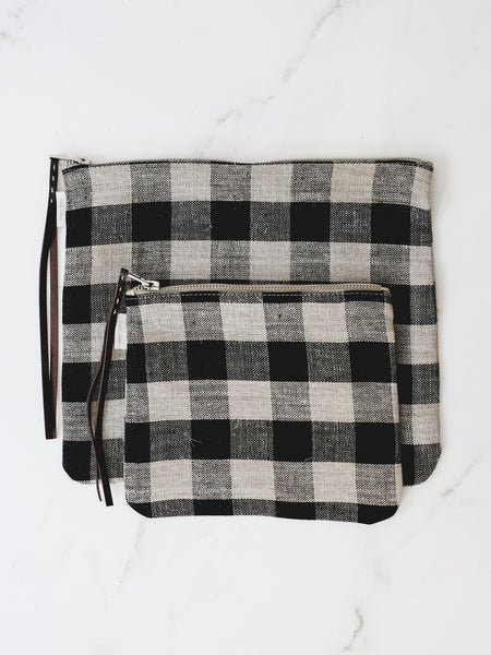 Canna Pouch - Black Natural Check