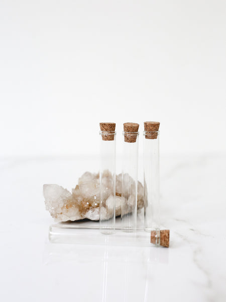Glass Vial with Cork Stopper