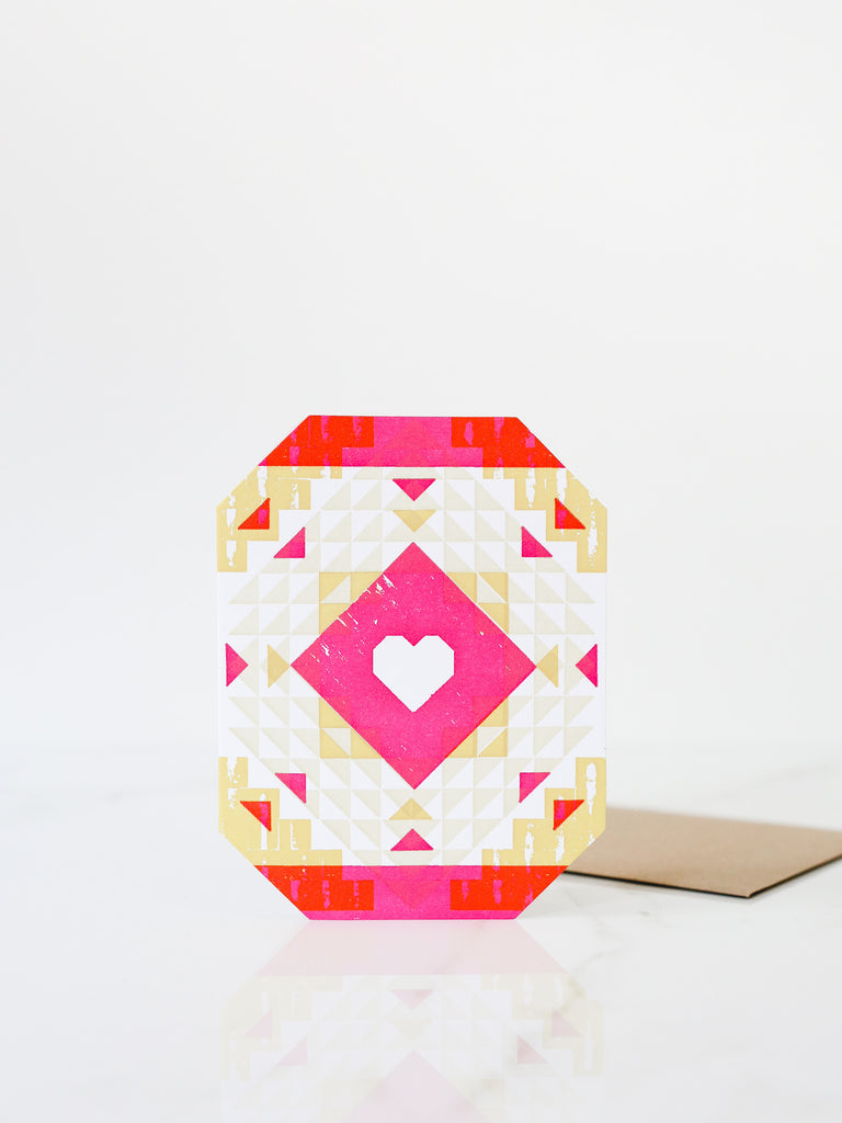 Cut Corner Heart Card