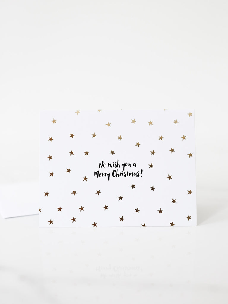 Penned Black 'We Wish You A Merry Christmas' Card