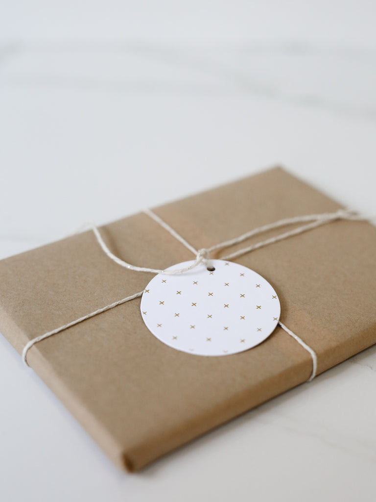 Penned Black 'Cross' Gift Tags