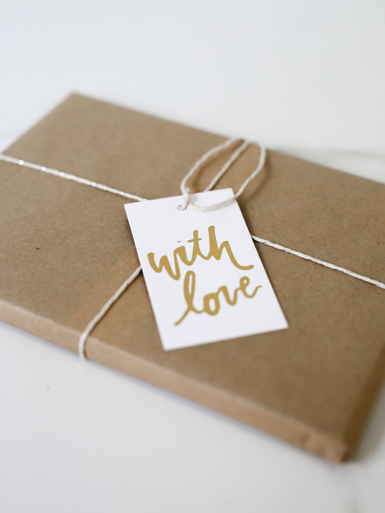 Penned Black 'With Love' Gift Tags