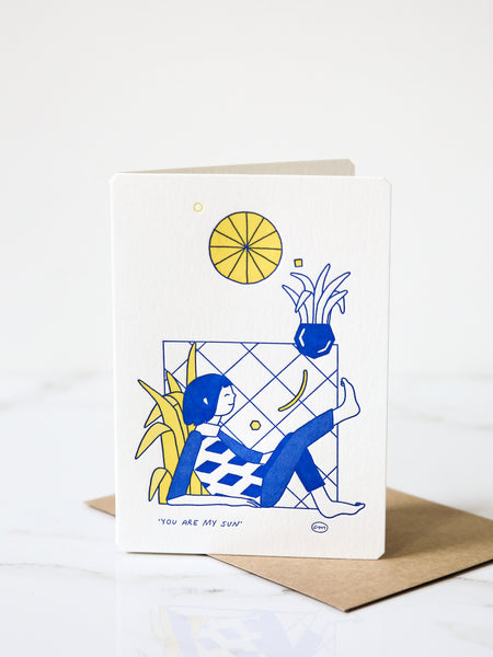 'You Are My Sun' card
