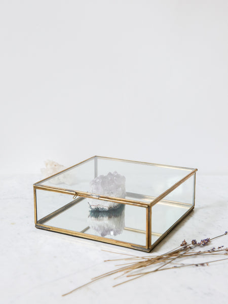 Glass and Brass Storage Box