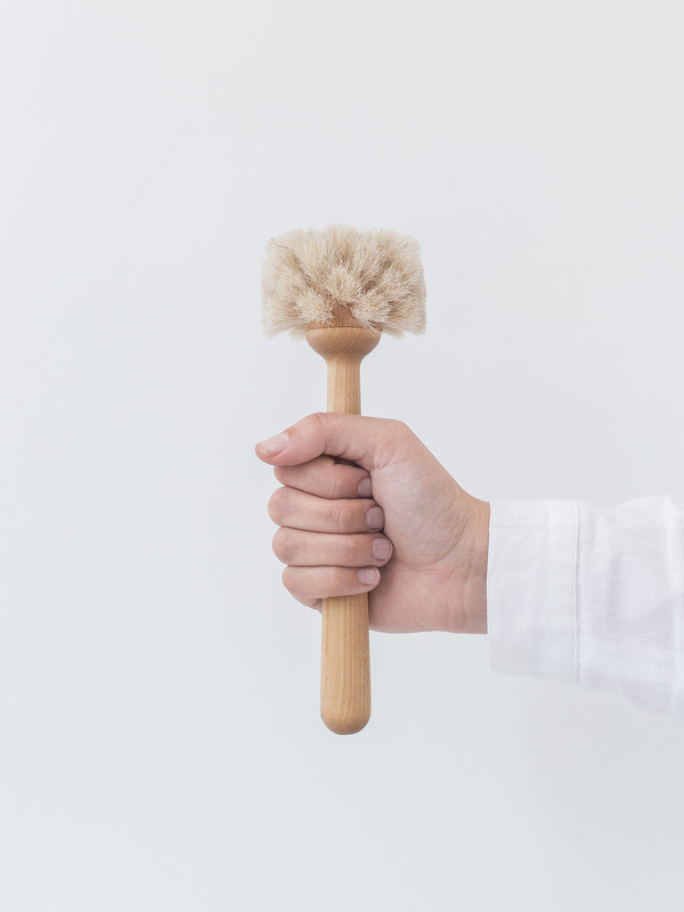 Wooden Handle Glass Brush