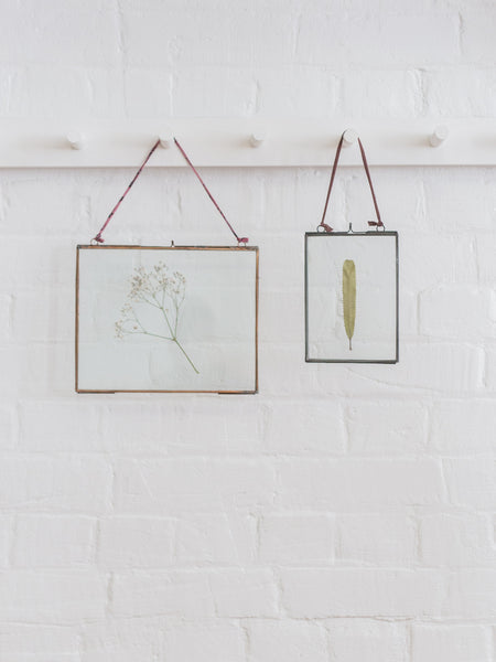 Copper and Glass Hanging Frame