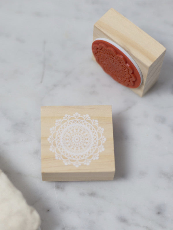 lace doily stamps