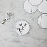 10 metal rimmed tags