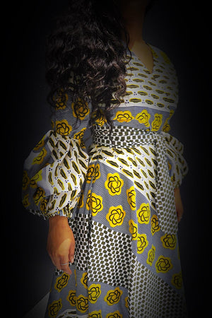 Koyo African Print Wrap Dress (Maxi Gown)