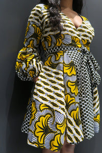 Koyo Ankara Wrap Dress