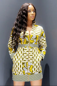 Bia African Print Dress/Jacket