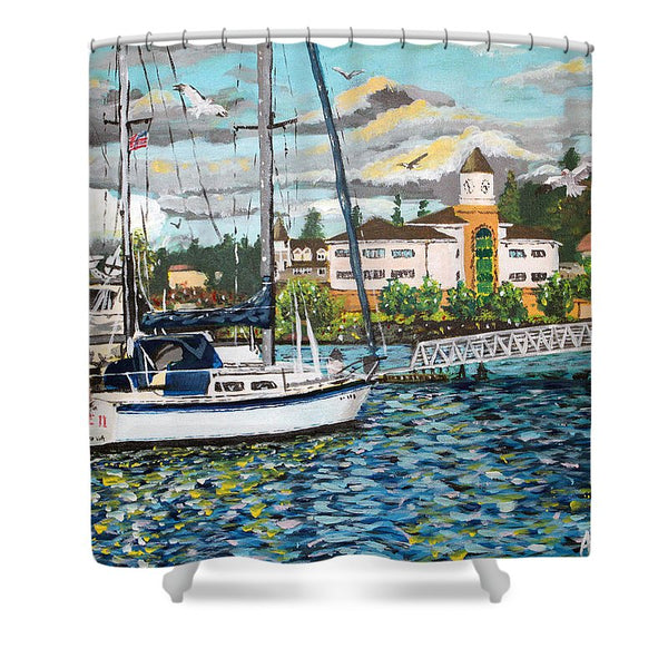Marina - Shower Curtain - Blue Creations Store