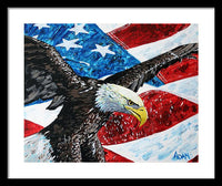 American Eagle - Framed Print - Blue Creations Store