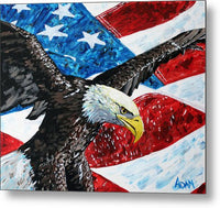 American Eagle - Metal Print - Blue Creations Store