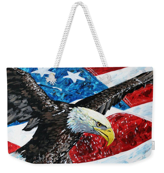 American Eagle - Weekender Tote Bag - Blue Creations Store