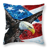 American Eagle - Throw Pillow - Blue Creations Store