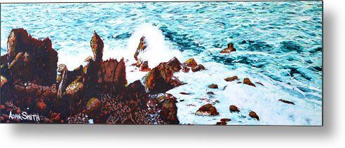 Black Rocks - Metal Print - Blue Creations Store