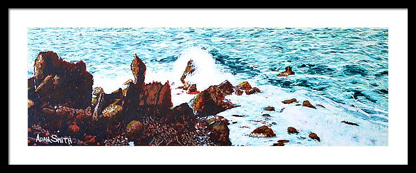 Black Rocks - Framed Print - Blue Creations Store