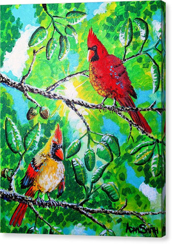 Cardinals - Canvas Print - Blue Creations Store