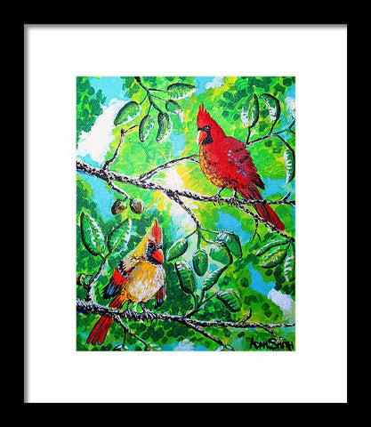 Cardinals - Framed Print - Blue Creations Store