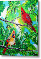 Cardinals - Metal Print - Blue Creations Store