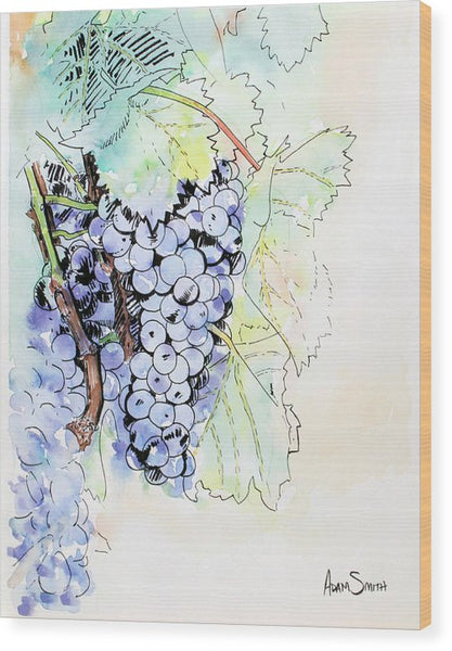 Grape Vine - Wood Print - Blue Creations Store