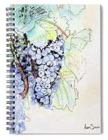 Grape Vine - Spiral Notebook - Blue Creations Store