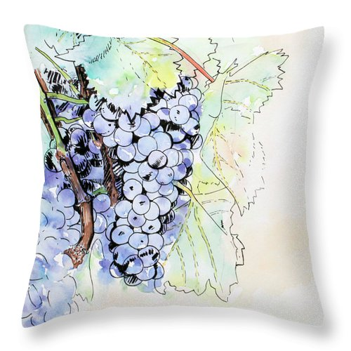 Grape Vine - Throw Pillow - Blue Creations Store