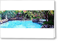 Pool - Greeting Card - Blue Creations Store