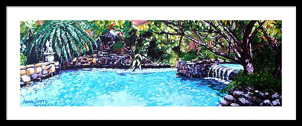 Pool - Framed Print - Blue Creations Store