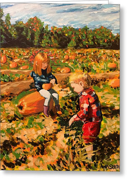 Pumpkin Patch - Greeting Card - Blue Creations Store