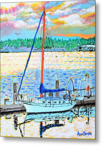 Sailboat - Metal Print - Blue Creations Store