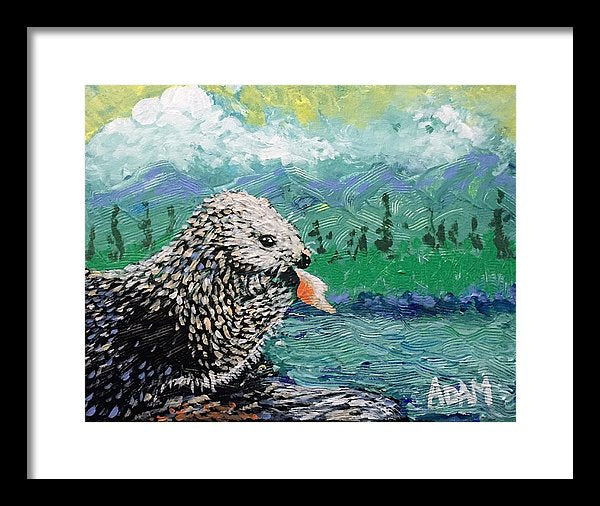 Sea Otter - Framed Print - Blue Creations Store