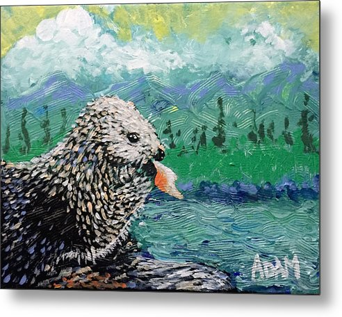 Sea Otter - Metal Print - Blue Creations Store