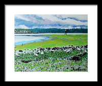 Seagull Breakfast - Framed Print - Blue Creations Store